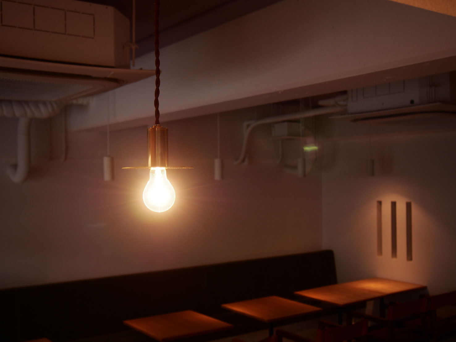店舗デザイン MasasimoGariani 真鍮 ペンダントライト 作家story#作家の器のある暮らし本山店